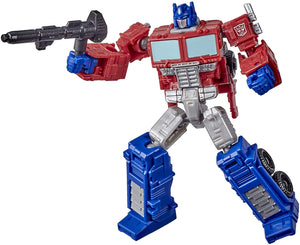 Transformers Toys Generations War for Cybertron: Kingdom Core Class WFC-K1 Optimus Prime Action Figure - Kids Ages 8 and Up, 3.5-inch