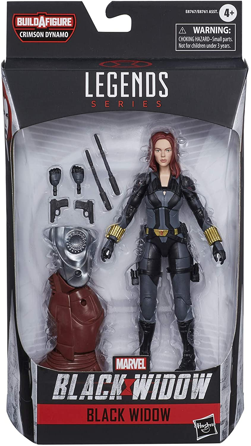 Marvel Hasbro Black Widow Legends Series 6-inch Collectible Black Widow Action Figure Toy, Premium Design, 6 Accessories, Ages 4 and Up