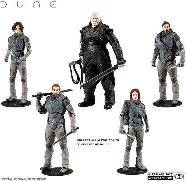 McFarlane Toys Dune Stilgar 7-inch Action Figure with Build-A Glossu 'Beast' Rabban Figure Parts
