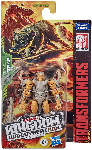 Transformers Toys Generations War for Cybertron: Kingdom Core Class WFC-K2 Rattrap Action Figure - Kids Ages 8 and Up, 3.5-inch