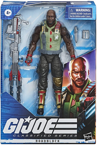 Hasbro G.I. Joe Classified Series Roadblock Action Figure 01 Collectible Premium Toy with Multiple Accessories 6-Inch Scale with Custom Package Art