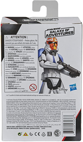 Star Wars Galaxy of Adventures Ahsoka's Clone Trooper Toy 5-Inch-Scale Action Figure with Fun Blaster Accessory Feature