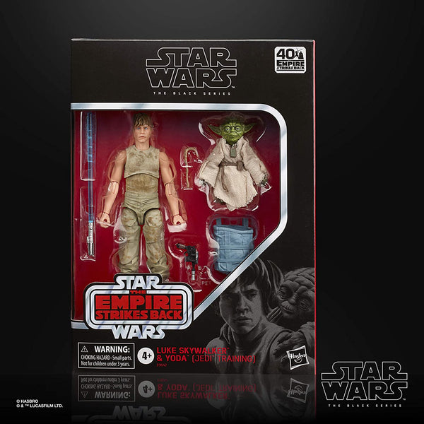 Star Wars The Black Series Luke Skywalker and Yoda (Jedi Training) 6-Inch-Scale The Empire Strikes Back 40th Anniversary Figures