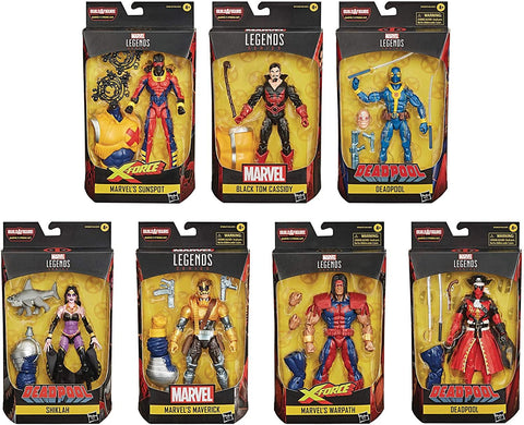 Deadpool Marvel Legends Wave 3 Set of 7 Figures (Strong Guy BAF)