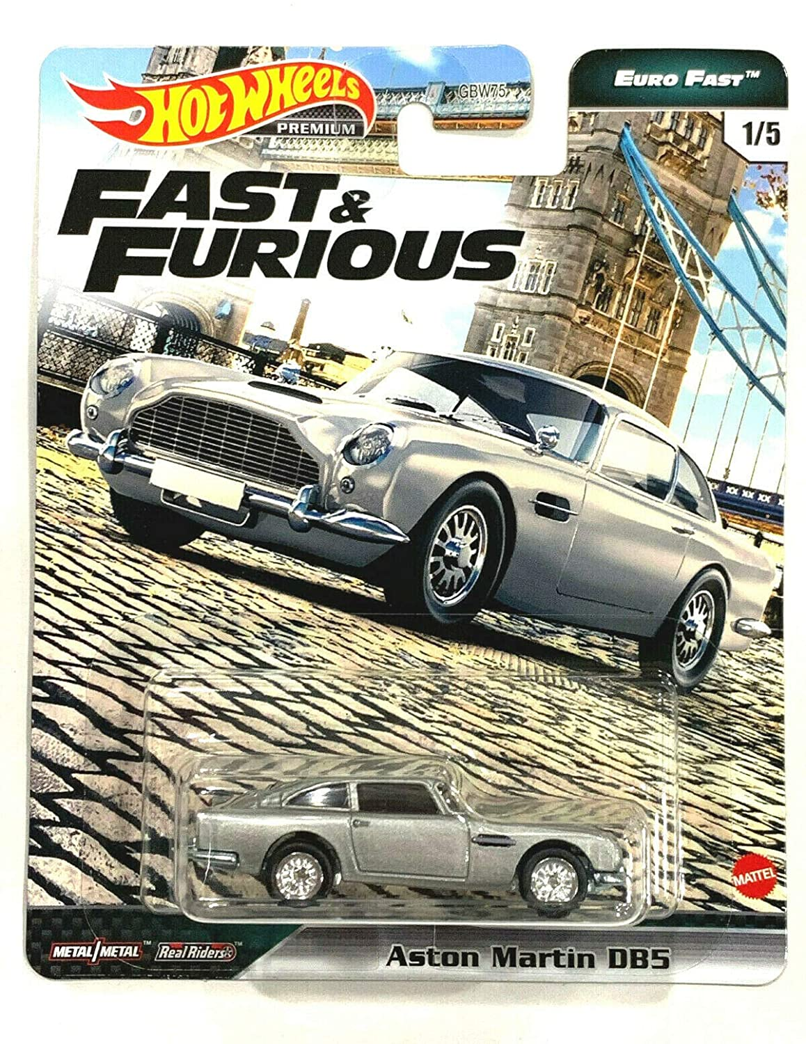 Fast & Furious Hot Wheels Premium Euro Fast 1/5 Aston Martin DB5 (Silver)
