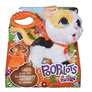 furReal Poopalots Big Wags Interactive Pet Toy, Connectible Leash System, Ages 4 and U - Kitty