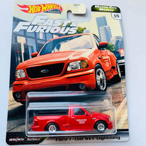 Hot Wheels Premium 2020 Motor City Muscle F&F, red Ford F-150 SVT Lightning