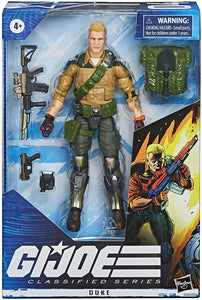 Hasbro G.I. Joe Classified Series Duke Action Figure Collectible 04 Premium Toy with Multiple Accessories 6-Inch Scale with Custom Package Art