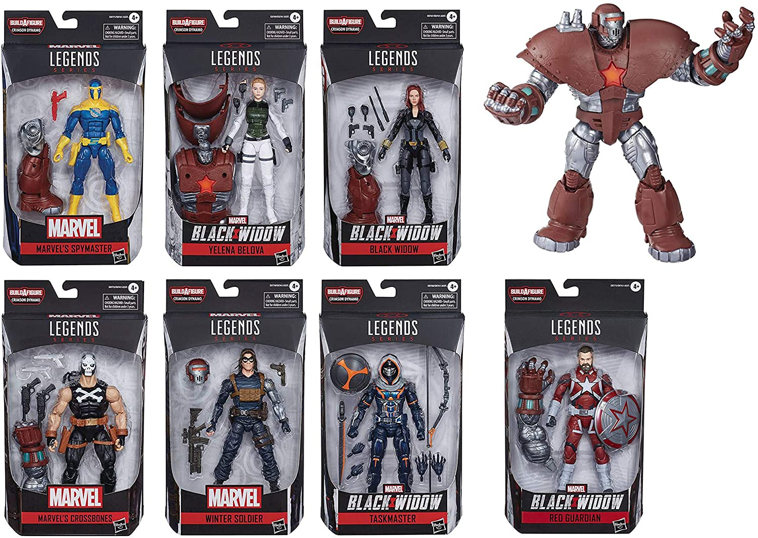 Exclusive Black Widow Marvel Legends Wave 1 Set of 7 Figures (Crimson Dynamo BAF)
