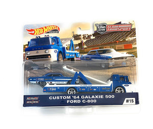 Hot Wheels Team Transport Carry On - Custom '64 Ford Galaxie 500 Ford C-800