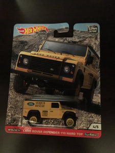 Hot Wheels Premium 2020 Car Culture All Terrain, Land Rover Defender 110 Hard Top
