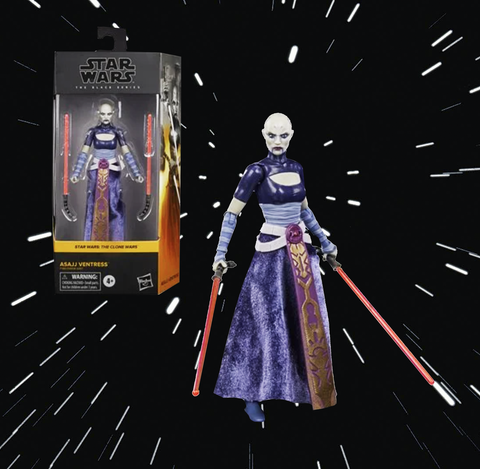 "Star Wars The Black Series Asajj Ventress 6"" Scale Collectible Action Figure, Toys for Kids Ages 4 & Up"