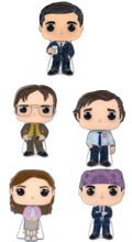 The Office Large Enamel Pop! Pins Wave 3