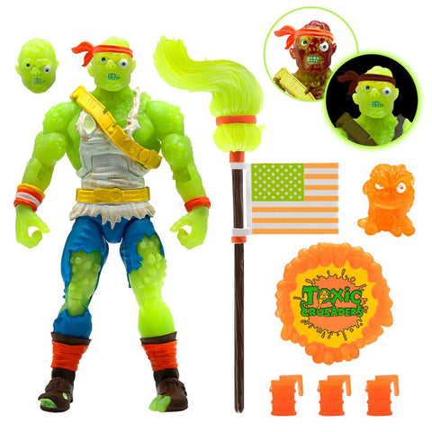 Toxic Crusader Ultimates Radioactive Red Rage Toxie 7-Inch Action Figure
