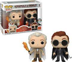 Funko Pop! TV: Good Omens - Aziraphale & Crowley Specialty Series Exclusive Vinyl Figure 2-Pack