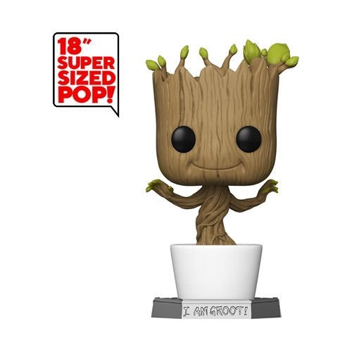 "Funko Pop! Marvel: Guardians of The Galaxy - 18"" Groot, Super Sized Figure"