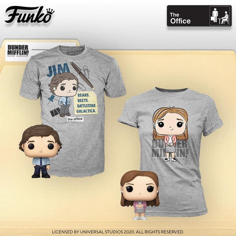 Funko Pop! Television: The Office Pocket Pop! and Tee (Adult Sizing) - Jim Halpert