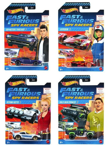 Fast & Furious Spy Racers Hot Wheels Mix 1 2020 Set of 4
