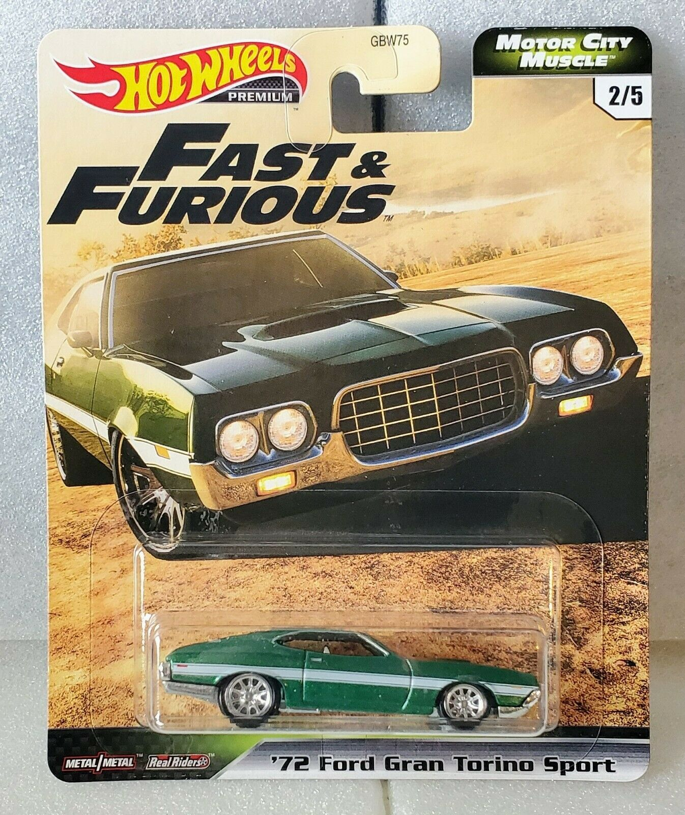 Hot Wheels Premium 2020 Motor City Muscle F&F, '72 Ford Gran Torino Sport