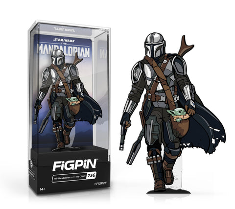 FiGPiN Classic: The Mandalorian - The Mandalorian with Child #736