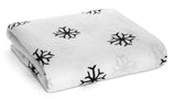 Organic cotton muslin swaddle - snowflake
