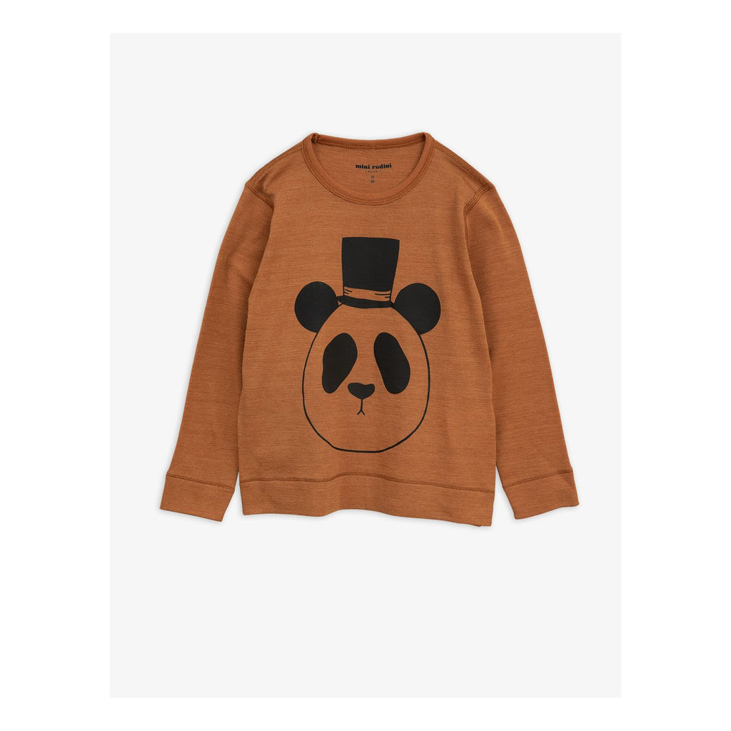 Panda sp wool l/s tee - brown