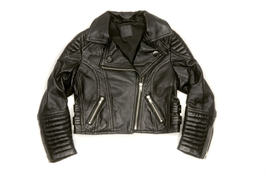Eve Jnr leather jacket - Onyx