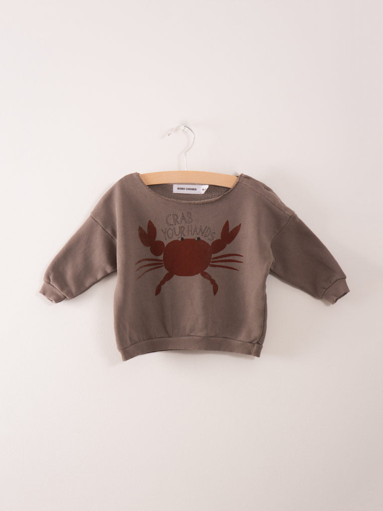 Crab your hands baby sweatshirt