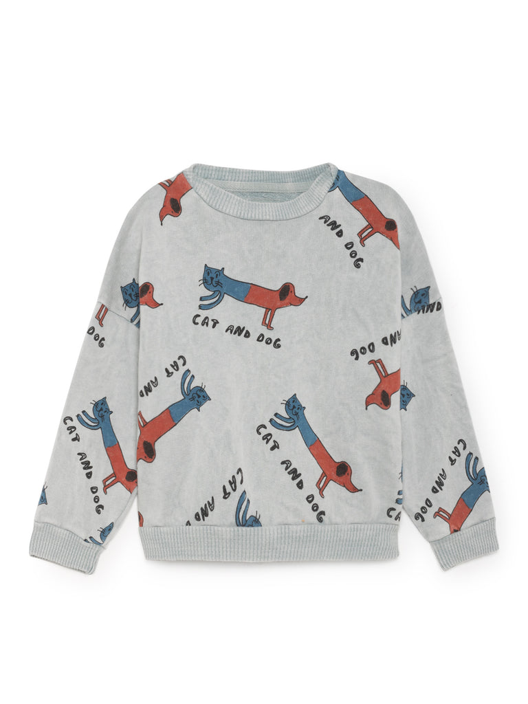 Cats and dogs round neck sweatshirt