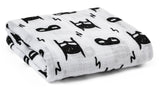 Organic cotton muslin swaddle blanket - hero struck
