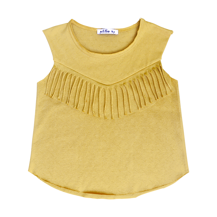 Juli top - warm yellow