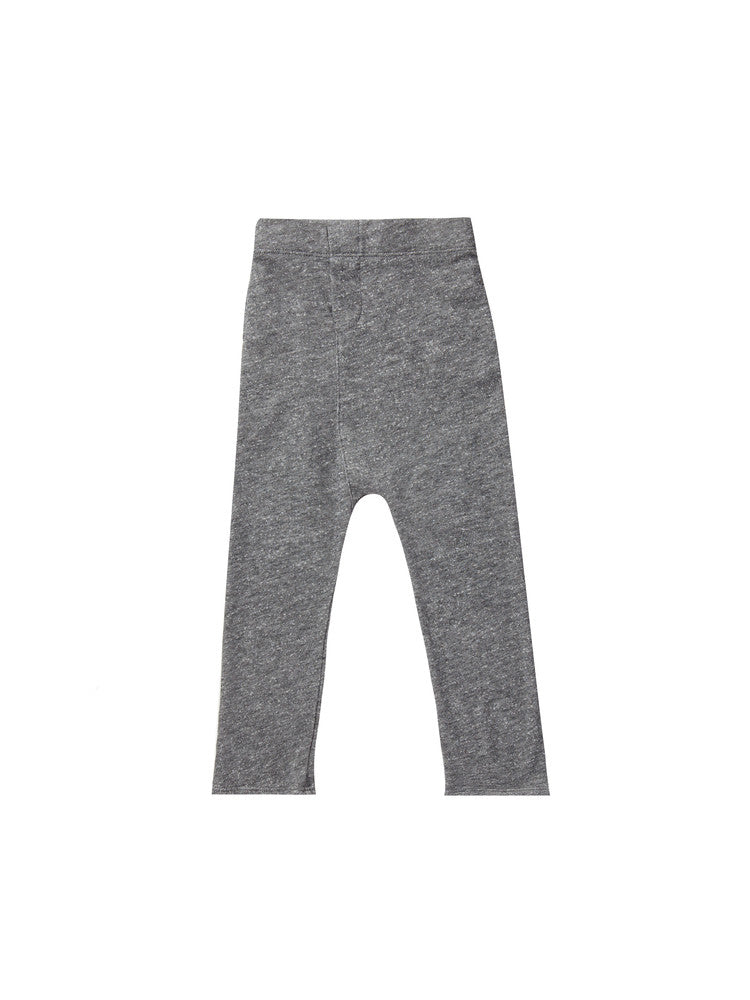 Dropped crotch sweatpants - heather charcoal