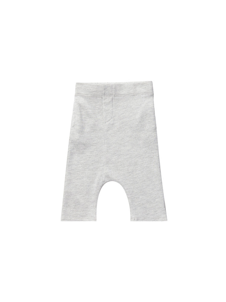 Dropped crotch shorts - heather grey