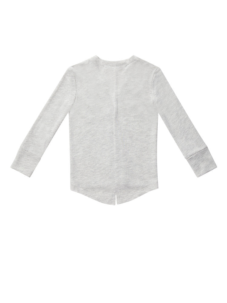Terry cardigan with pocket - heather grey