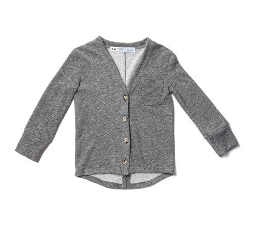 Terry cardigan with pocket