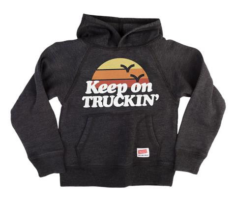 Keep on trucking' hooded sweatshirt
