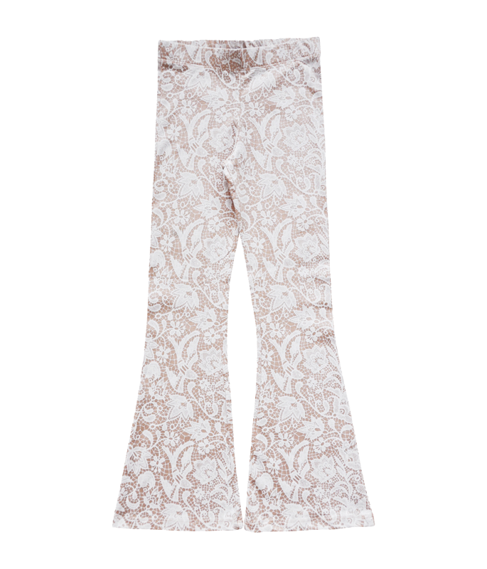 Bell bottoms - soft pink lace