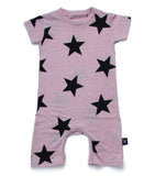 Star playsuit - powder pink