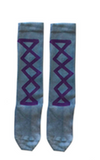 Ribbon socks - Evening blue/grape