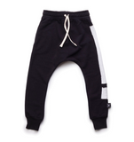 Exclamation baggy pants - black