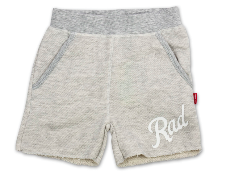 French terry rad shorts - heather gray