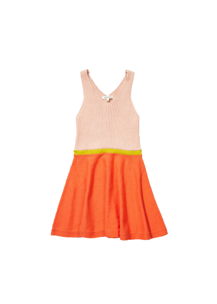 Tigernut dress - peach melba/tangerine