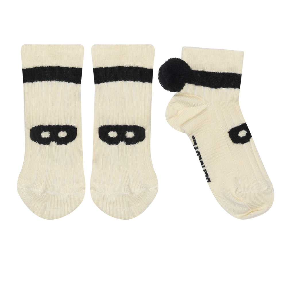 Knit ankle socks - cream