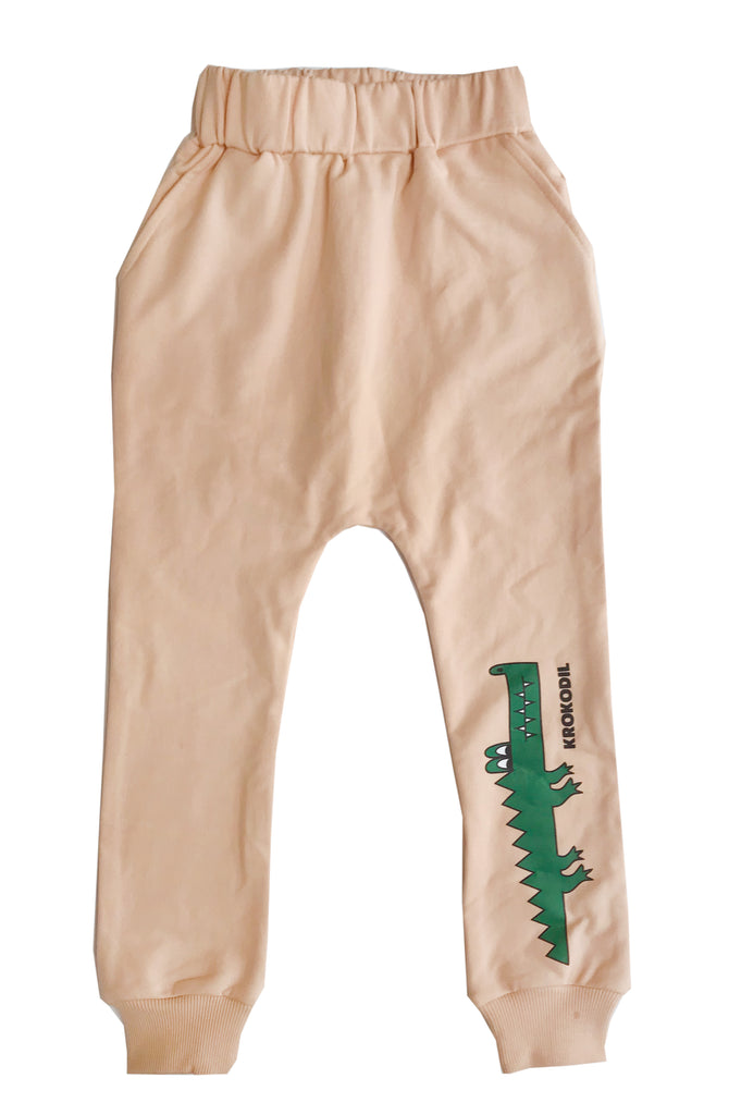Krocodil left leg drop crotch sweat pants