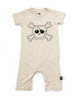 Embroidered skull playsuit