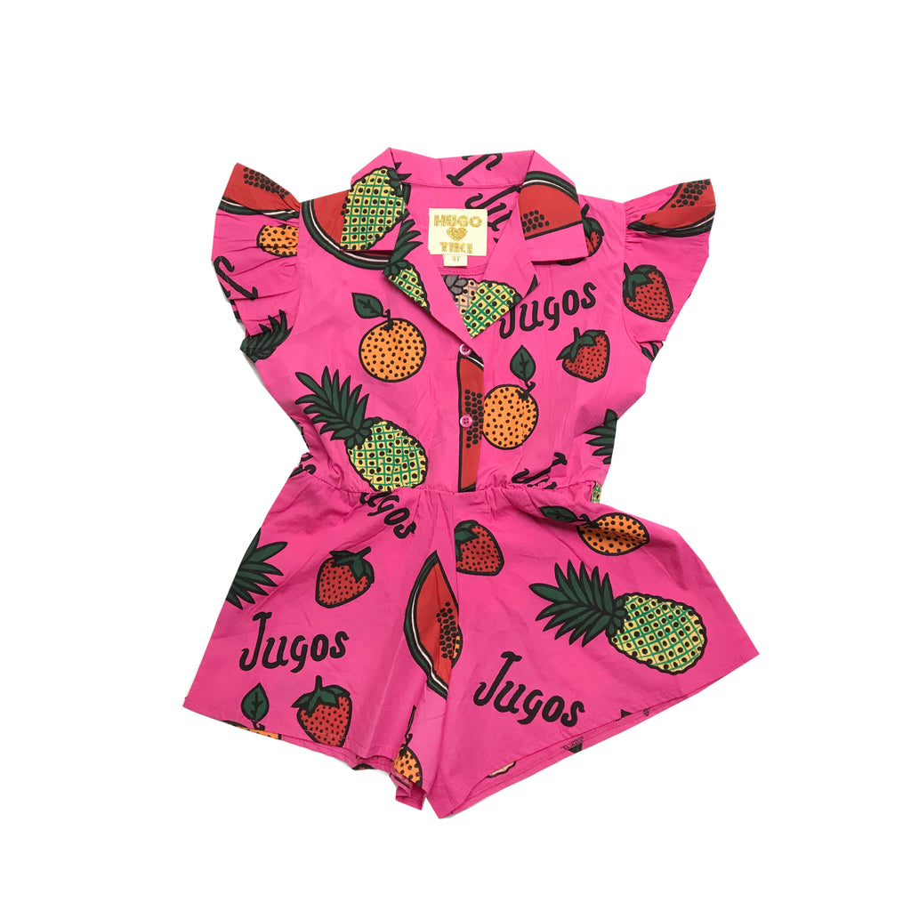 ruffled romper - fruit