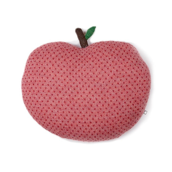 Apple pillow - rose/red dots