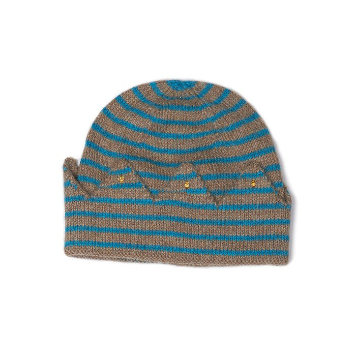 Crown hat - rope/bay blue stripes