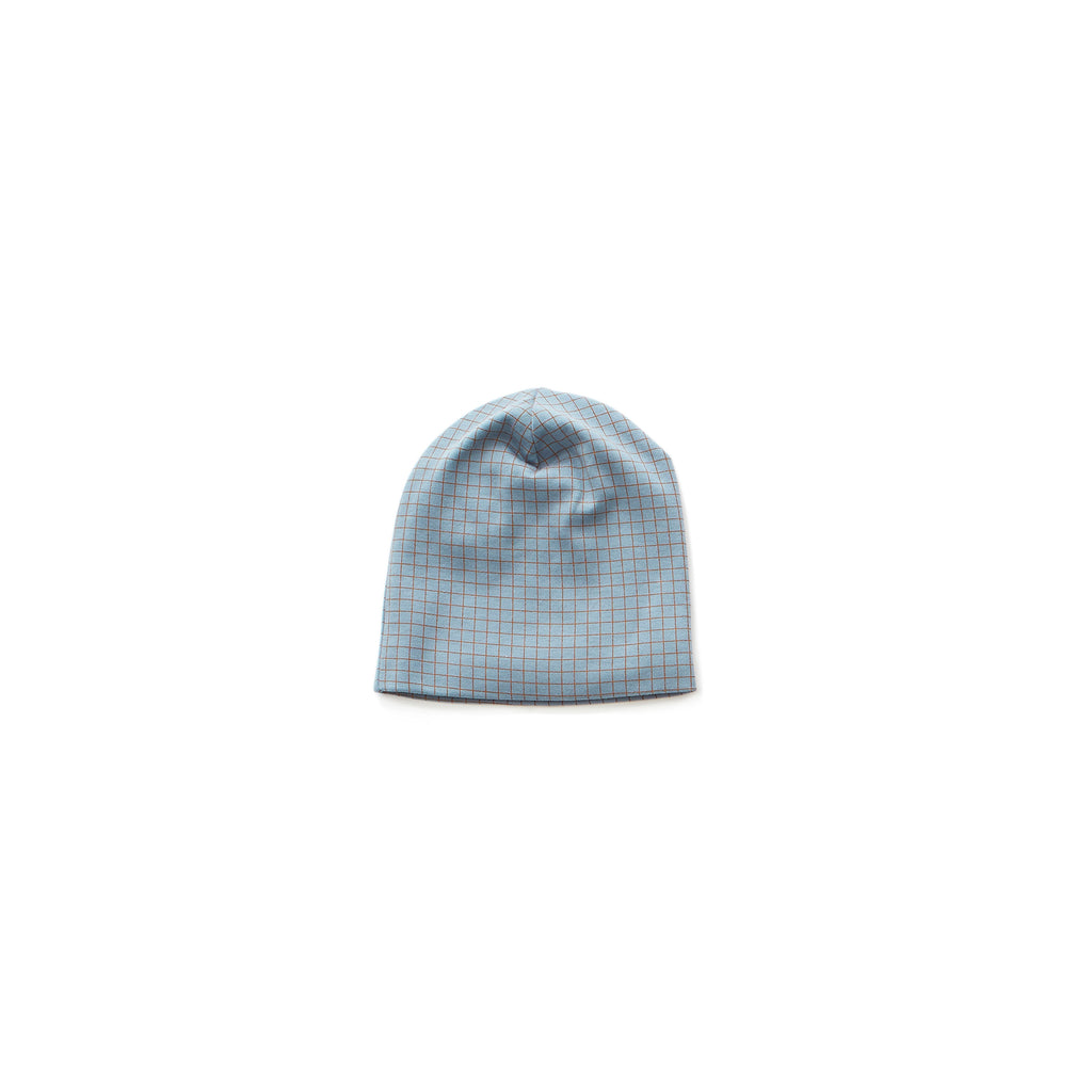 Beanie - citadel blue/hazelnut checks