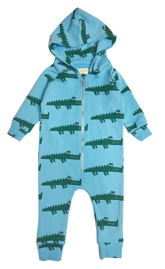 Blue crocodile jumpsuit
